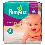 Pack de 62 Couches Pampers Active Fit sur layota