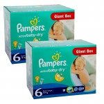 Giga pack 288 Couches Pampers Active Baby Dry sur auchan