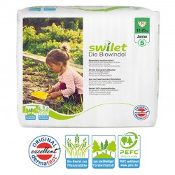 24 Couches bio écologiques Swilet New Baby Dry taille 5