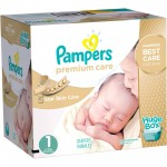 164 Couches Pampers Premium Care taille 1