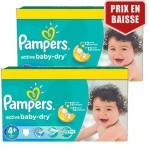 Maxi Pack de 162 Couches de Pampers Active Baby Dry sur auchan