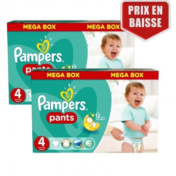 282 Couches Pampers Pampers Baby Dry Pants Taille 4 A Bas Prix Sur