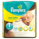 Pack de 23 Couches Pampers New Baby Premium Protection sur auchan