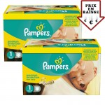 Maxi Giga pack 345 Couches Pampers de New Baby Premium Protection sur auchan