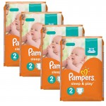 Maxi Giga pack 204 Couches de Pampers Sleep & Play sur layota