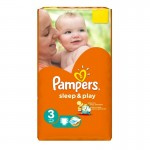 Pack de 16 Couches Pampers Sleep & Play sur layota
