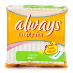 Pack 18 Serviettes hygiéniques Always Ultra Simply Fits Normal