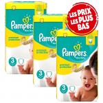 174 Couches Pampers Premium Protection - New Baby taille 3
