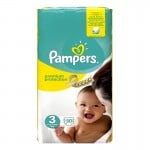 50 Couches Pampers Premium Protection - New Baby taille 3