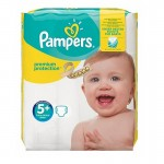 32 Couches Pampers Premium Protection - New Baby taille 5+