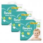 Maxi Giga Pack de 140 Couches Pampers de Baby Dry sur auchan