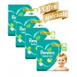 Maxi Giga Pack 308 Couches de Pampers Baby Dry sur auchan