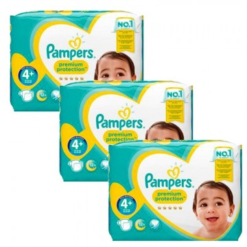 186 Couches Pampers New Baby Premium Protection taille 4+