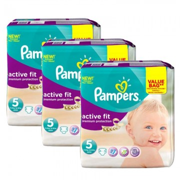 276 Couches Pampers Pampers Active Fit Taille 5 à Bas Prix Sur Cou Ches