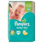 47 Couches Pampers Baby Dry taille 3+