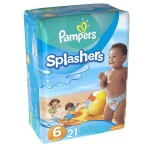Pack de 21 Couches Pampers de Swimming Pants Splachers sur auchan