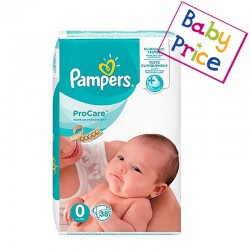 38 Couches Pampers ProCare Premium protection taille 0