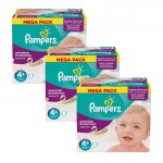 Mega Pack 186 Couches Pampers Active Fit sur auchan