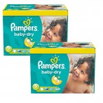 Maxi Giga Pack 175 Couches Pampers Baby Dry sur auchan