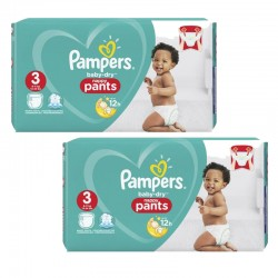 160 Couches Pampers Baby Dry Pants taille 3