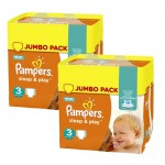 Maxi mega pack 410 Couches de Pampers Sleep & Play sur auchan