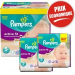 Maxi Pack de 376 Couches Pampers Active Fit sur auchan