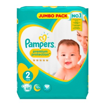 68 Couches Pampers New Baby - Premium Protection taille 2