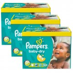 Giga Pack 308 Couches de Pampers Baby Dry sur auchan