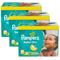308 Couches Pampers Baby Dry taille 5+