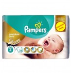 Pack 38 Couches Pampers de New Baby Premium Protection sur auchan