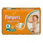 36 Couches Pampers Sleep & Play taille 4