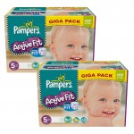 Maxi Giga Pack 235 Couches Pampers Active Fit sur auchan