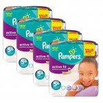 128 Couches Pampers Active Fit - Premium Protection taille 5+