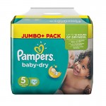 72 Couches Pampers Baby Dry taille 5