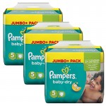 Giga Pack 144 Couches de Pampers Baby Dry sur auchan