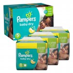 Giga Pack 288 Couches de Pampers Baby Dry sur auchan