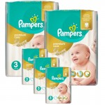 340 Couches Pampers Premium Care - Prima taille 3