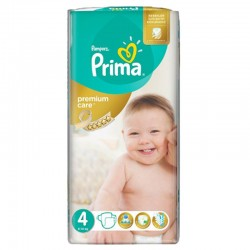 20 Couches Pampers Premium Care - Prima taille 4