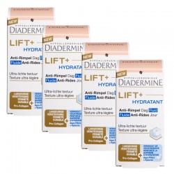 Lot de 4 crèmes Diadermine Lift+ 50 ml Hydratant Fluide Anti-Rides Jour