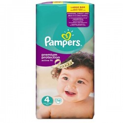 96 Couches Pampers Active Fit taille 4