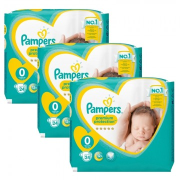 72 Couches Pampers New Baby Premium Protection taille 0