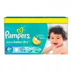 Pack de 96 Couches de Pampers Active Baby Dry sur auchan
