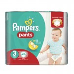 26 Couches Pampers Baby Dry Pants taille 3