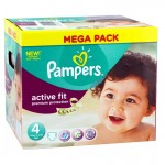 Pack 168 Couches Pampers d'Active Fit sur auchan
