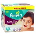 168 Couches Pampers Active Fit - Premium Protection taille 4