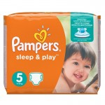 58 Couches Pampers Sleep & Play taille 5