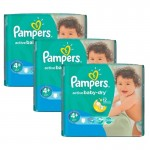 Giga Pack 192 Couches Pampers d'Active Baby Dry sur auchan