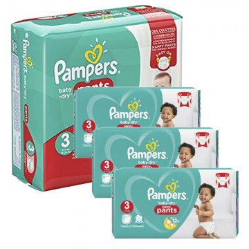 390 Couches Pampers Baby Dry Pants taille 3