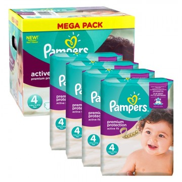 504 Couches Pampers Active Fit - Premium Protection taille 4