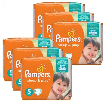 232 Couches Pampers Sleep & Play taille 5